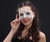 Hallowmasのダンスパーティーの白いレースの謝肉祭マスク
