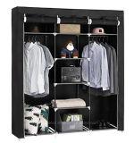 De moderne Eenvoudige Stof die van het Huishouden van de Garderobe de Eenvoudige Garderobe van de Combinatie van de Versterking van de Grootte van de Koning van de Assemblage van de Opslag van de Afdeling van de Doek (fw-35) vouwt