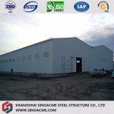 Vertente de aço Certificated da fábrica do armazenamento do fardo da extensão Prefab dobro
