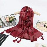フリンジが付いている女性の冬の格子縞のスカーフの卸し売り新しい様式