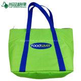 Le grand refroidisseur supplémentaire vert met en sac le sac frais de tirette d'emballage de transporteur de congélateur d'épaule