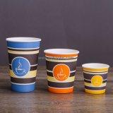 Одноразовые Custom печатной бумаги кофе чашки