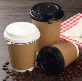 Quitarle el papel impreso el logotipo de tazas de café con tapa de doble pared