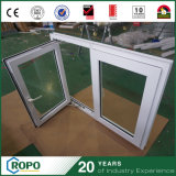 En vinyle PVC panneau double impact de l'ouragan Casement swing out Windows