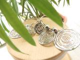 Серьга круга горячего сбывания подарка рождества имитационная серебряная