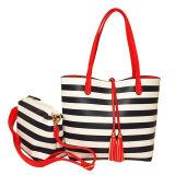 2018 Dame Fashion Strip Tote Handbag