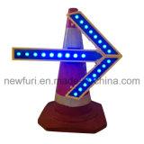 Luz da seta do diodo emissor de luz de uma rotação de 360 graus para o cone do tráfego