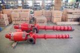 Электрическим длинним свисанный валом вертикальный пожарный насос турбины