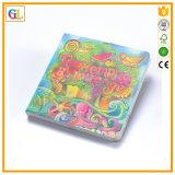 Impresión barata colorida del libro de la tarjeta de los niños (OEM-GL023)