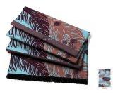 Elegent versieht 100% den reinen Silk Schal mit Federn