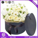 Caixa impressa costume da flor do cartão com tampa