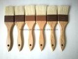 Щетка барбекю щетки BBQ ручки белой щетинки деревянная