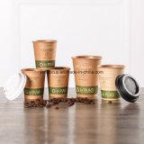 2017 nuevas tazas de papel de Brown Kraft del café de la llegada