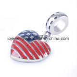 Encanto personalizado do grânulo da jóia com cor do esmalte