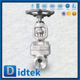 Фланец маховичка поставщика Didtek надежный кончает нормальный вентиль