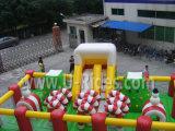 castello gonfiabile di tema di chirstmas per divertimento ed il gioco