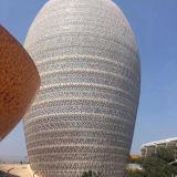 Panneau en aluminium perforé architectural pour le revêtement de mur extérieur