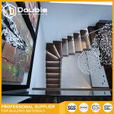 Escadas de vidro do projeto das escadas com a escadaria moderna do diodo emissor de luz dos trilhos