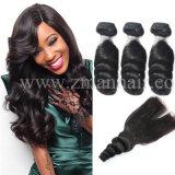 Slacciare la trama Charming dei capelli umani di struttura dell'onda per la donna di colore