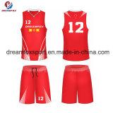 Les uniformes faits sur commande de basket-ball du Jersey de basket-ball de sublimation des plus défunts vêtements de sport de modèle