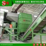 Desfibradora doble del eje para reciclar el desecho/el neumático inútil