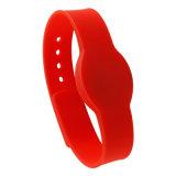 Silicone rosso RFID Wristband&#160 di ellisse; Impermeabilizzare per l'apri del portello