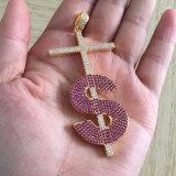 A jóia CZ chegada nova da forma pavimentou o projeto do pendente do alfabeto de S