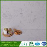 Pietra di sguardo di marmo bianca del quarzo di alta durezza con la vena grigia