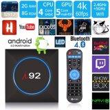 I92 bricht androider IPTV Fernsehapparat-Kasten S905X 2g DDR 16g Emmc 4K mit Netflix 2.4G WiFi Fernsehapparat-Kasten 2017 Media Player ab