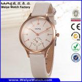 Reloj de la mujer del cuarzo de la correa de cuero del servicio de encargo de la manera (Wy-096A)