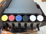 焦点の蝶ジェット機A2紫外線平面プリンターびんの印字機