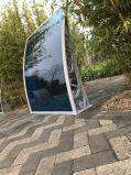 De waterdichte Bochtige het Afbaarden van PC ZijSchuilplaats van de Regen van de Zon voor Balkon