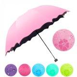 方法女性の傘の防風の日焼け止めの魔法の花のドームの紫外証拠の日曜日簡単な雨折る傘