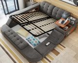 Modulares multi Funktions-weiches Gewebe-King-Size Bett