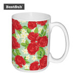 Promotion de sublimation Bestsub 15 Oz céramique blanche Mug photo (B201)