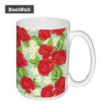 Promoción de la sublimación Bestsub 15 onzas de cerámica blanca taza Foto (B201)