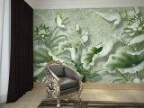 Behang van de Muurschildering van de Vijver van Lotus van de Hulp van de douane het Zelfklevende 3D voor de Zaal van het Bed