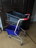 Магазины 2 слоя корзины тележки