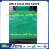 Piccola stuoia rotonda verde della vite prigioniera, pavimentazione di gomma antiscorrimento