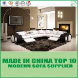 L Shape Canto de Reclinação de lazer moderno sofá de couro
