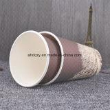 Taza de café de papel de un sólo recinto barata disponible respetuosa del medio ambiente al por mayor