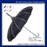 prix d'usine OEM Droite Noir logo Sun parapluie avec personnalisation