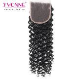 Yvonne-Haar-malaysischer Rotation-Großverkauf-brasilianisches Haar-Spitze-Schliessen