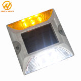 Marqueur de la route de l'aluminium réfléchissant LED solaire goujon de route