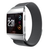 Correa de reloj de bucle milanesa de Fitbit, malla de acero inoxidable Ver banda para Fitbit iónico.