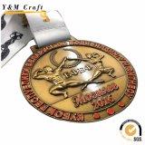 Forme de cuvette métalliques personnalisées médaille avec Ruban (M007)