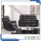 Bequemes ledernes Wohnzimmer-Sofa-gesetzte Entwürfe mit den Stahlbeinen