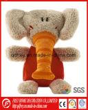 Het grappige Leuke Zachte Stuk speelgoed van de Olifant met Geborduurde Klok