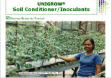 Fertilizante de la agricultura de Unigrow en cualquie establecimiento vegetal
