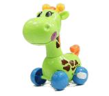 かわいい漫画の動物のキリンの時計仕掛けは赤ん坊のおもちゃを終わらせる